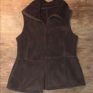 Fur-Lined Talbots Brown Vest.